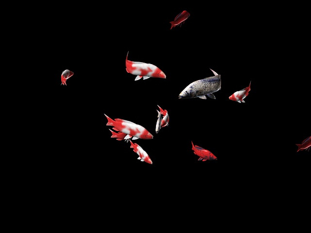 School of Fish Animation 3d rendering