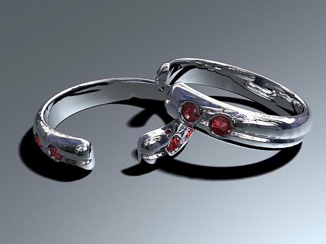 Emerald Gemstones Bracelet 3d rendering