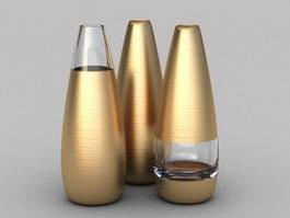 Metal Floor Vases 3d model preview