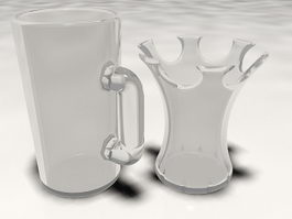 Glass Mugs 3d preview