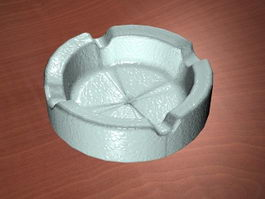White Ashtray 3d preview