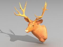 Deer Head Decoration 3d model preview