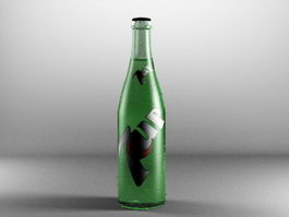 7Up Bottle 3d preview