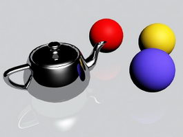 Steel Teapot 3d preview