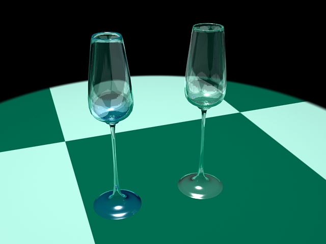 Champagne Glasses 3d rendering