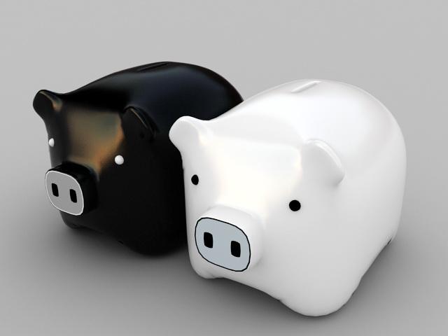 Piggy Bank 3d rendering