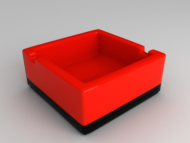Red Ashtray 3d rendering
