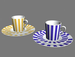 Coffee Mug with Saucer 3d preview