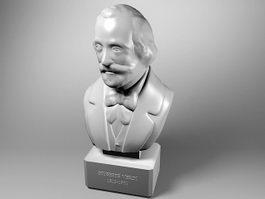 Giuseppe Verdi Bust Statue 3d preview