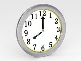 Modern Wall Clock 3d model preview