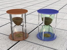 Hour Glass Decorations 3d preview