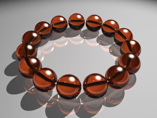Gemstone Bracelet 3d rendering