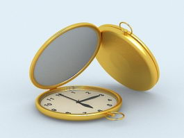 Gold Pocket Watches 3d preview