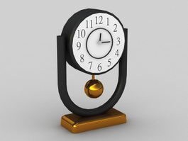 Pendulum Desk Clock 3d preview