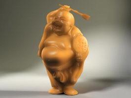Jade Buddha Figurine 3d preview