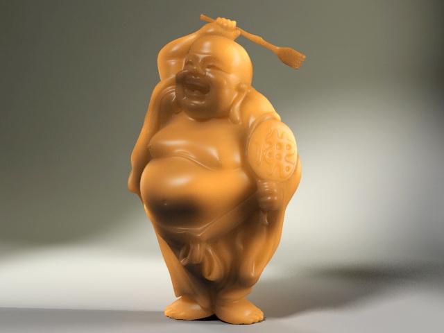 Jade Buddha Figurine 3d rendering