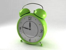 Green Alarm Clock 3d model preview