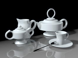 Classic Tea Set 3d preview