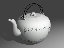 Ancient Chinese Teapot 3d model preview