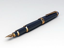 Fountain Pen 3d preview