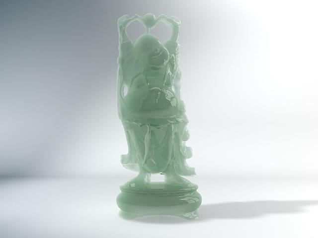 Antique Jade Buddha Statue 3d rendering