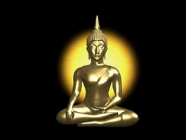 Indian Buddha Statue 3d preview