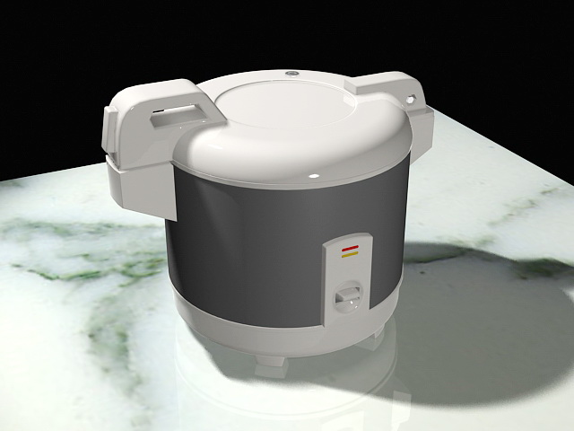 Electric Rice Cooker 3d rendering