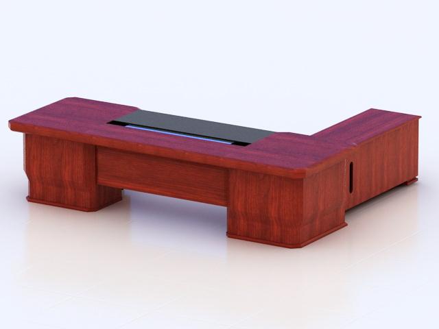 Luxury Executive Desk 3d rendering