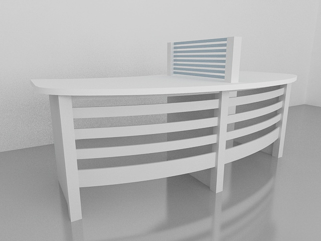 Two-Person Home Office Workstation 3d rendering