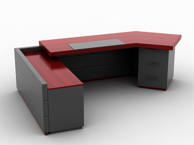 High-End Executive Desk 3d rendering