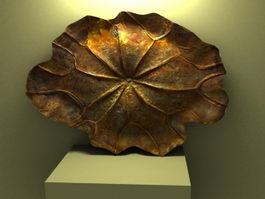 Bronze Lotus Leaf Decorations 3d preview