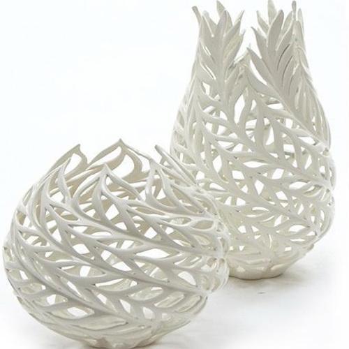 Decorative Handmade Porcelain Vases 3d rendering