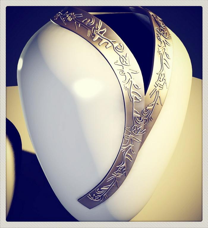 Handmade Ceramic Vases 3d rendering