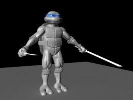 Ninja Turtles Rig 3d model preview