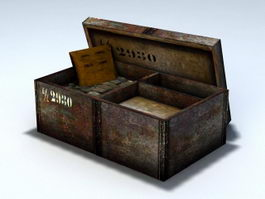 Old Ammo Box 3d model preview