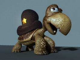 Turtle Cartoon Character 3d preview