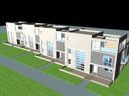 Townhouse Buildings 3d preview