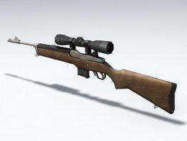 Mini-14 Sniper Rifle 3d model preview