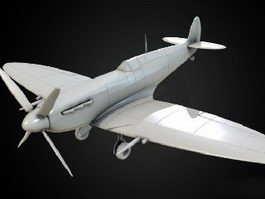 Spitfire Fighter Aircraft 3d model preview