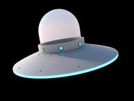 Alien UFO 3d preview