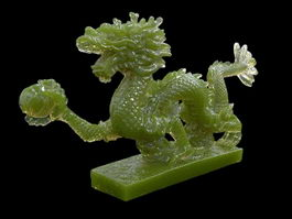 Chinese Dragon Jade Carving 3d preview