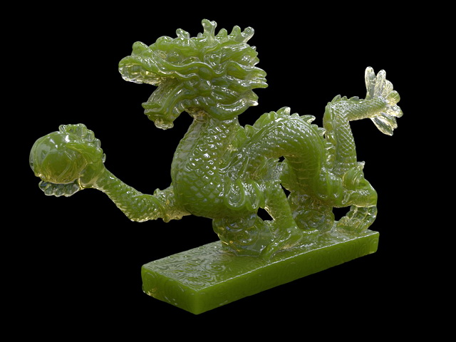 Chinese Dragon Jade Carving 3d rendering