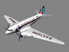 DC-3 Airplane 3d preview