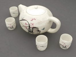 Chinese Porcelain Tea Set 3d preview
