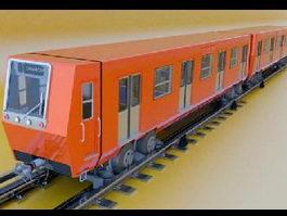 Metro Train 3d preview