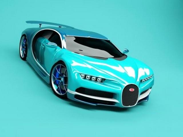 2017 Bugatti Chiron 3d rendering