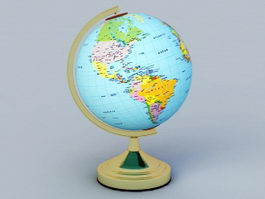 Earth Globe 3d preview
