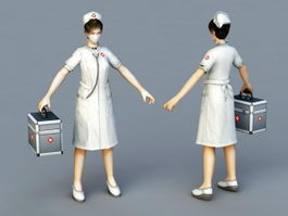 Woman Doctor 3d preview