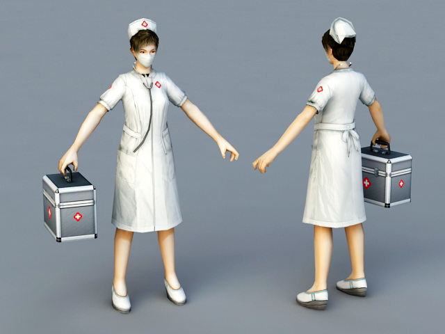 Woman Doctor 3d rendering