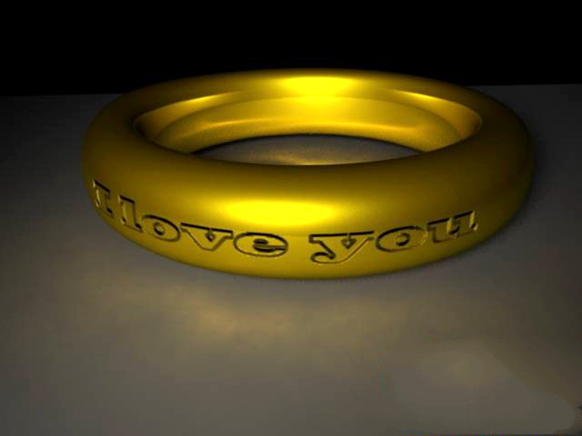 Antique Gold Ring 3d rendering